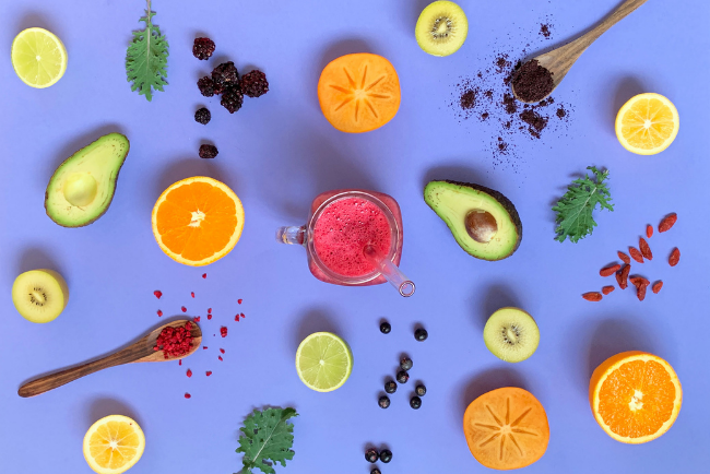Seasonal smoothie with local ingredients
